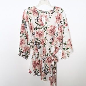 Collective Concepts Destini Wrap Blouse Floral